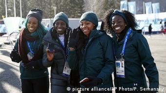 Pyeongchang 2018 - Sportler aus Afrika Olympische Spiele (picture alliance/AP Photo/P. Semansky)