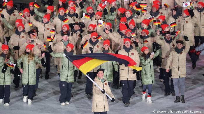 Немецкая делегация на открытии Игр-2018