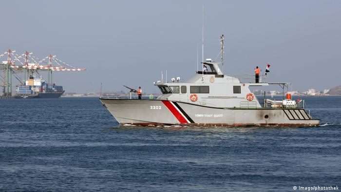 Jemen Küstenwache im Hafen von Aden (Imago/photothek)