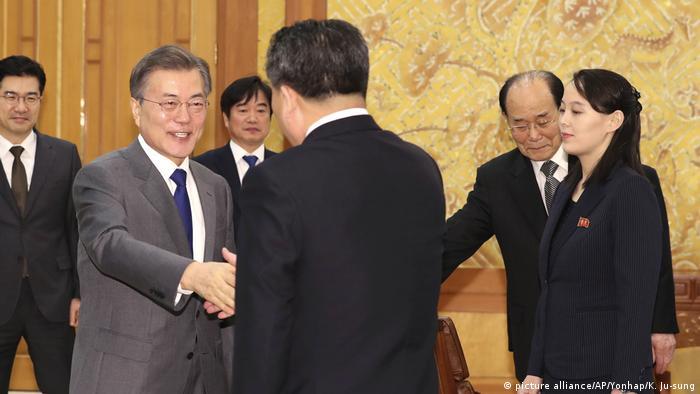 Südkorea Seoul Treffen von Moon Jae-in, Kim Yo Jong, Kim Yong Nam, Ri Son Gwon