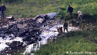 Israel Absturz Kampfjet F-16 nach Einsatz in Syrien