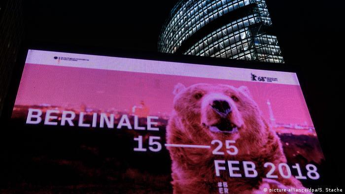 Berlin - Berlinale Bär auf Werbeplakat