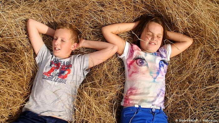 A still from the documentary Ceres that follows four children as they experience the natural cycle of life on a farm.