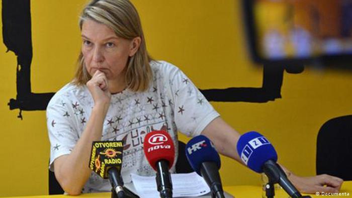 Ausschnitt: Julijana Rosandic Verein der Zivilopfer des Krieges in Kroatien und Vesna Terselic Documenta