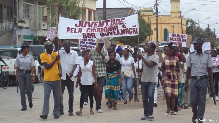 Mosambik Demonstration in Quelimane |