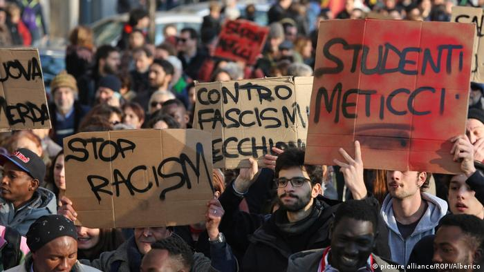 Protesters rally against racism