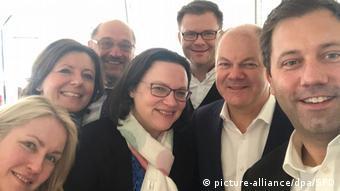 Лидеры социал-демократов - участники коалиционных переговоров