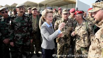 Von der Leyen visits troops in Iraq
