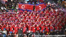 Olympische Winterspiele 2018 in Pyeongchang nordkoreanische Cheerleader