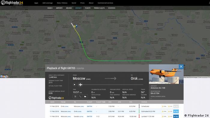 Screenshot - Flightradar 24 zu Flug 6W703 (Flightradar 24)