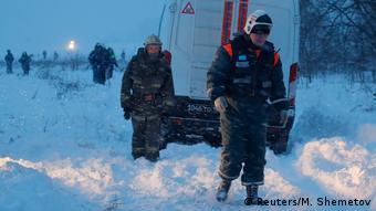 Russland - Unglücksstelle des Flugzeugsunglücks Antonov AN-148