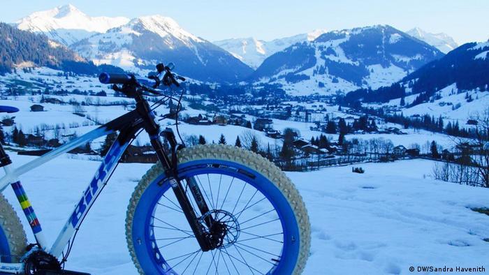 Schweiz Reportage Gstaat | Fatbike im Schnee