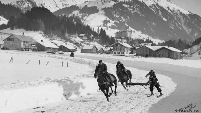 Schweiz Reportage Gstaat | Skijöring in den 50er Jahren