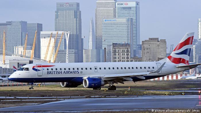 Самолет British Airways в лондонском аэорпорту