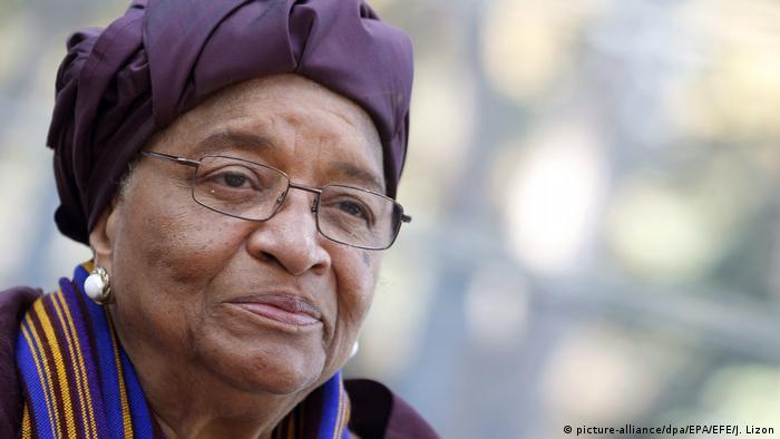 Die frühere Präsidentin von Liberia, Ellen Johnson-Sirleaf (picture-alliance/dpa/EPA/EFE/J. Lizon)