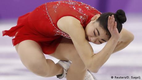 Südkorea Pyeongchan - Mirai Nagasu beim Eiskunstlaufen (Reuters/D. Sagolj)