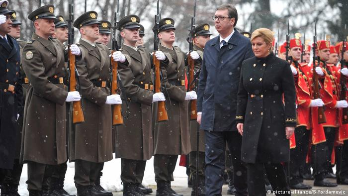 Serbischer Präsident Aleksandar Vucic in Kroatien (picture-alliance/S.Yordamovic)