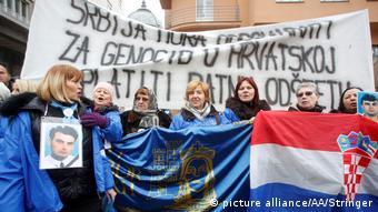 Serbischer Präsident Aleksandar Vucic in Kroatien Proteste in Zagreb