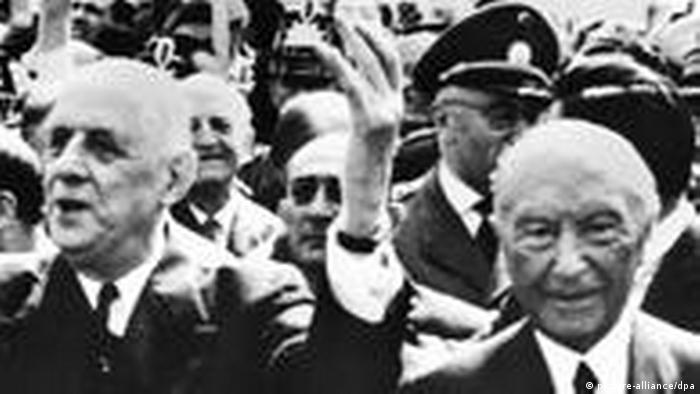 De Gaulle bei Adenauer in Bonn bejubelt Deutsch-Französische Freundschaft (picture-alliance/dpa)