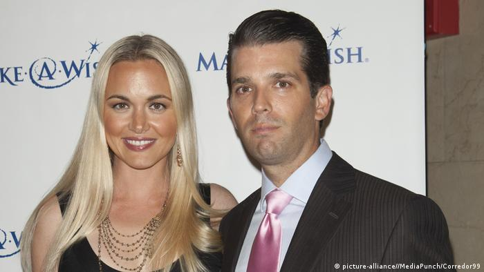 Bust shot of Vanessa and Donald Trump Jr.