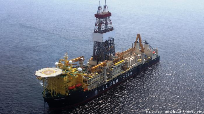 A natural gas drilling platform in Cyprus