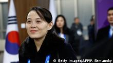 Kim Jong Un's sister Kim Yo Jong attended the Games (Getty Images/AFP/P. Semansky)