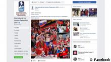 Screenshot vom FB-Profil des Internationalen Eishockey-Verband IIHF