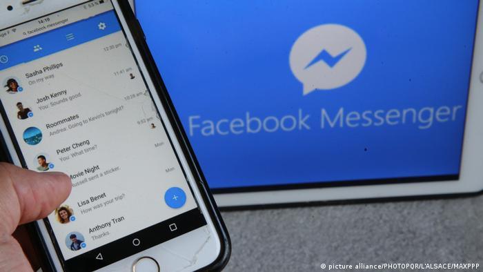 Facebook Messenger (picture alliance/PHOTOPQR/L'ALSACE/MAXPPP)