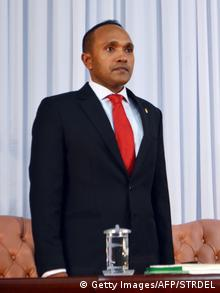Malediven Vize-Präsident Mohamed Jameel Ahmed (Getty Images/AFP/STRDEL)