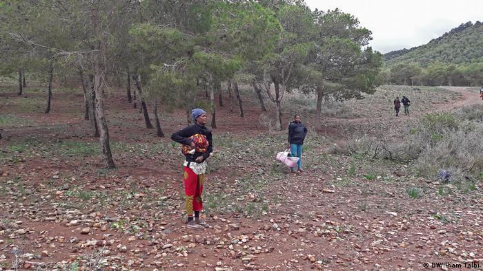 Marokko Das Leben afrikanischer Immigranten im Nador-Wald (DW/Ilham Talbi)