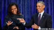 USA National Portrait Gallery enthüllt Porträts von den Obamas (Reuters/J. Bourg)