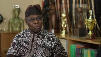 Screenshot DW Interview mit Obasanjo