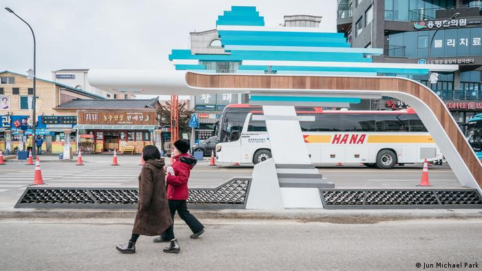 Pyeongchang, street scene, South Korea Winter Olympics (Jun Michael Park)