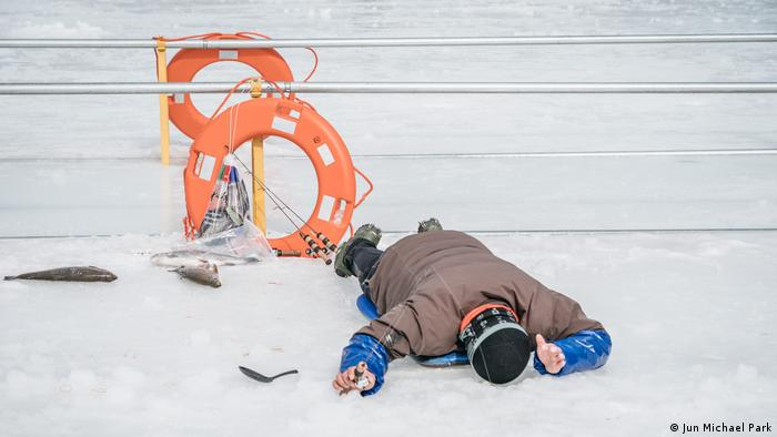 Pyeongchang, ice fishing, South Korea, Winter Olympics (Jun Michael Park)