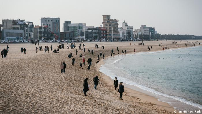 Gangneung beach, South Korea, impressions from Winter Olympics (Jun Michael Park)
