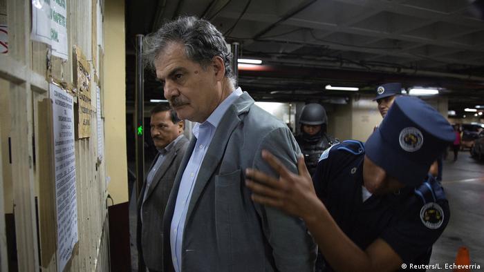Guatemala City Festnahme ehemaliger Finanzminister und derzeitiger Vorsitzender von Oxfam International Juan Alberto Fuentes