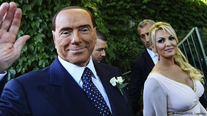 Italien Wahlkampf 2018   Silvio Berlusconi und Francesca Pascale