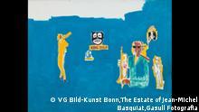 Jean-Michel Basquiat, König Zulu, 1986, Acryl, Wachs und Filzstift