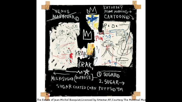 Jean-Michel Basquiat A Panel of Experts from 1982 (VG Bild-Kunst Bonn,The Estate of Jean-Michel Basquiat,Licensed by Artestar,NY,Courtesy The Montreal Museum of Fine Arts,D.M.Parker)