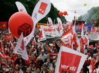 Protesta en Berlín  contra la pobreza y los efectos de la crisis (mayo de 2009.