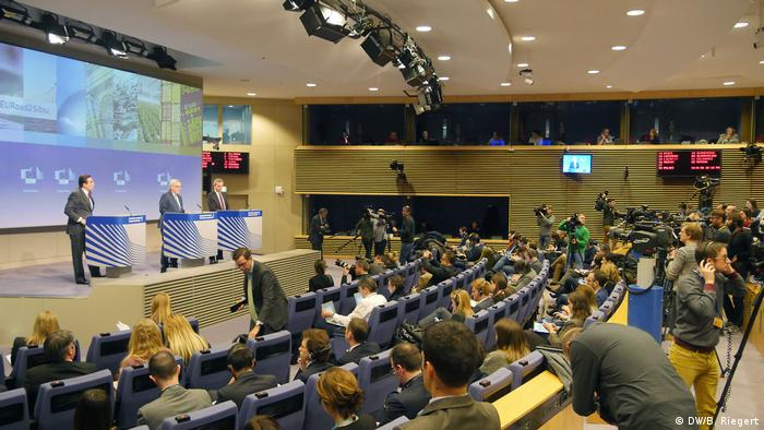 EU Commission President Jean-Claude Juncker at the Brussels press conference