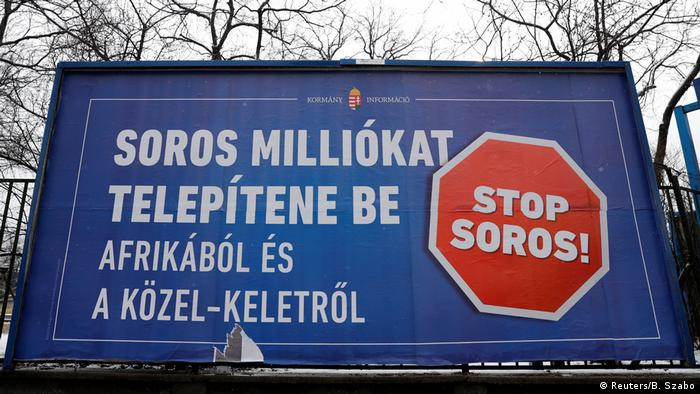 Government's anti-Soros billboard in Budapest