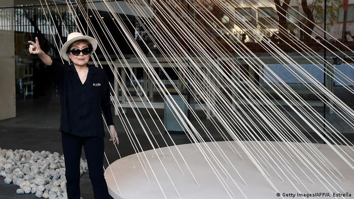 Yoko Ono in Mexiko Stadt (Getty Images/AFP/A. Estrella)
