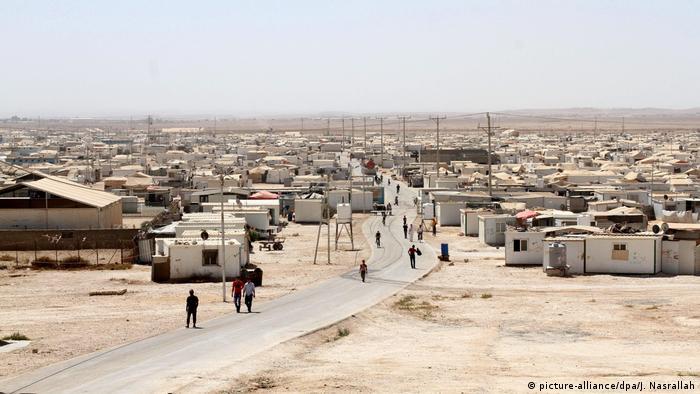 Das Flüchtlingslager Al-Zataari für Syrer in Jordanien hat Zehntausende Bewohner