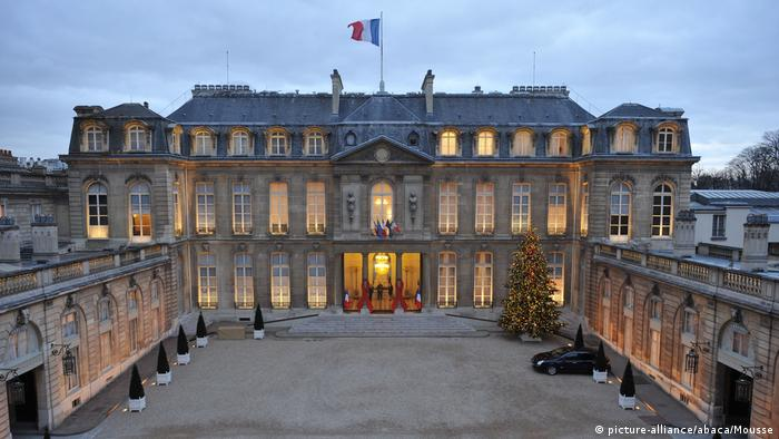 Aereal view of the Elysee Palace in Paris