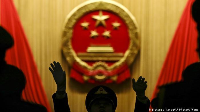 China Musikdirigent beim Nationalen Volkskongress in Pekin