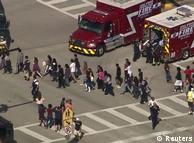 Эвакуация школьников с места происшествия
