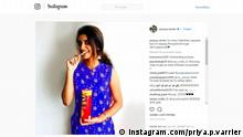 Screenshot instagram - priya prakash varrier
