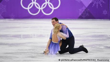 Südkorea Pyeongchang - Aljona Savchenko und Bruno Massot gewinnen Gold für Deutschland (picture-alliance/ZUMAPRESS/J. Huanzong)