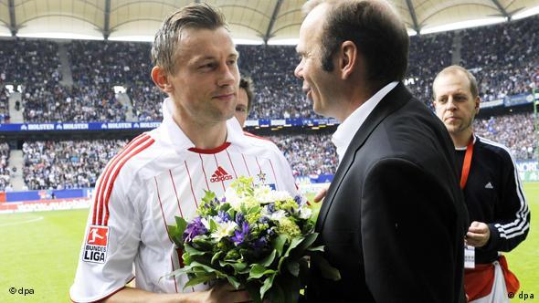Ivica Olić (l.) i Bernd Hoffmann
